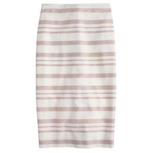 J. Crew Double-stripe pencil skirt
